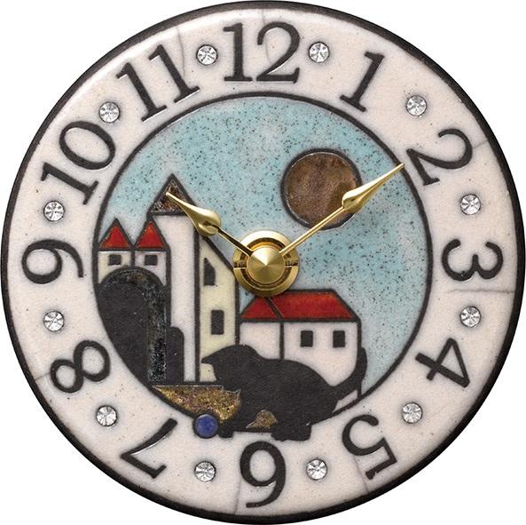 アントニオ・ザッカレラ 陶器 置き掛け兼用時計 ZC939-004 名入れ ANTONIO ZACCARELLA