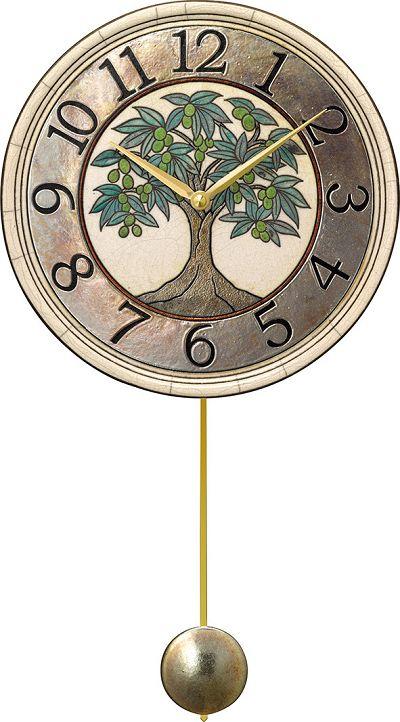 陶器の温かさとイタリアンアートに溢れる魅力! アントニオ・ザッカレラ Antonio Zaccarella 陶器振り子時計 ZC946-005 名入れ 【楽ギフ_のし】【楽ギフ_メッセ入力】