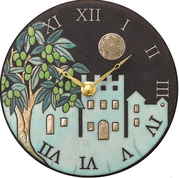 陶器の温かさとイタリアンアートに溢れる魅力! アントニオ・ザッカレラ Antonio Zaccarella 陶器製置き掛け兼用時計 ZC955-004 名入れ 【楽ギフ_のし】【楽ギフ_メッセ入力】