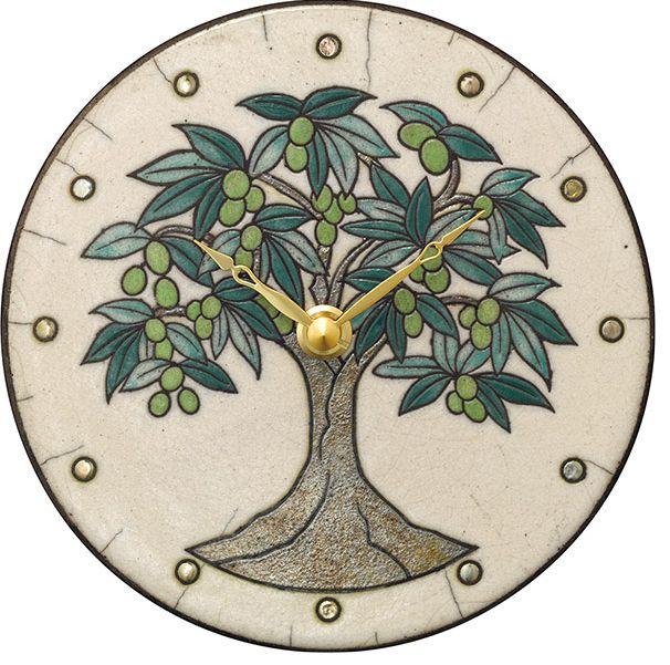 陶器の温かさとイタリアンアートに溢れる魅力! アントニオ・ザッカレラ Antonio Zaccarella 陶器製置き掛け兼用時計 ZC960-003 名入れ 【楽ギフ_のし】【楽ギフ_メッセ入力】
