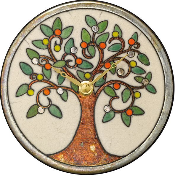 陶器の温かさとイタリアンアートに溢れる魅力! アントニオ・ザッカレラ Antonio Zaccarella 陶器製置き掛け兼用時計 ZC961-003 名入れ 【楽ギフ_のし】【楽ギフ_メッセ入力】