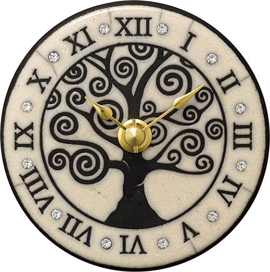 アントニオ・ザッカレラ 陶器 置き掛け兼用時計 ZC965-003 名入れ ANTONIO ZACCARELLA