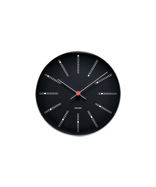 アルネ・ヤコブセン掛け時計 ARNE JACOBSEN Wall Clock Bankers 210mm 43636 壁掛け時計 ROSENDAHL