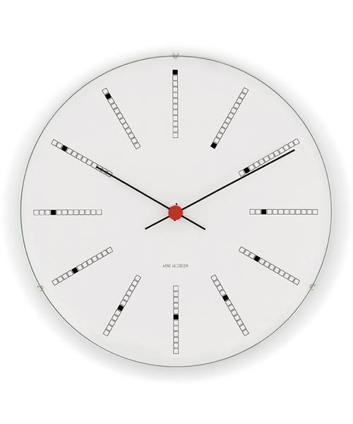 アルネ・ヤコブセン掛け時計  ARNE JACOBSEN Wall Clock Bankers 290mm 43640 壁掛け時計 ROSENDAHL