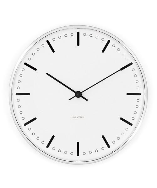 アルネ・ヤコブセン掛け時計  ARNE JACOBSEN Wall Clock CityHall 290mm 43641 壁掛け時計 ROSENDAHL