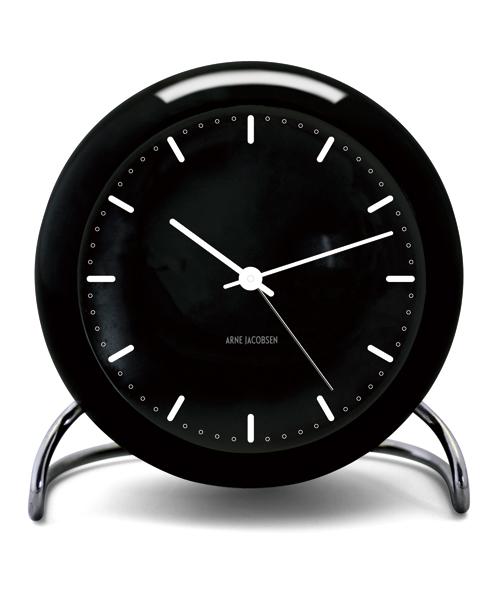 アルネ・ヤコブセン置き時計 ARNE JACOBSEN Table Clock CityHall Black 43673 ROSENDAHL