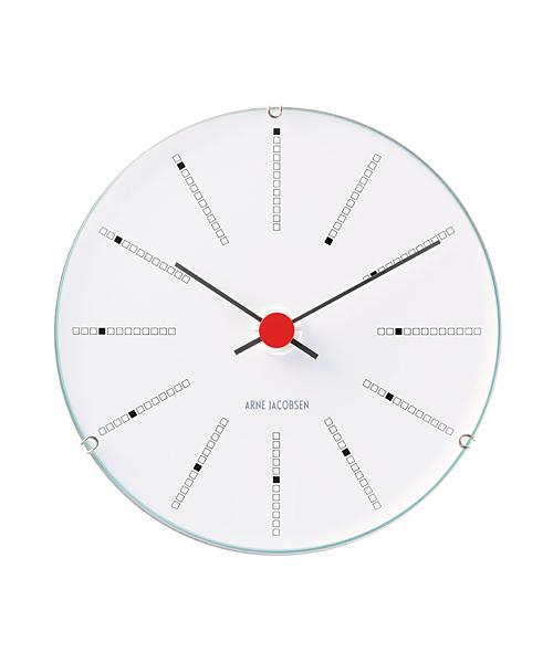 アルネ・ヤコブセン 掛け時計ARNE JACOBSEN Wall Clock Bankers 120mm 43688 ROSENDAHL