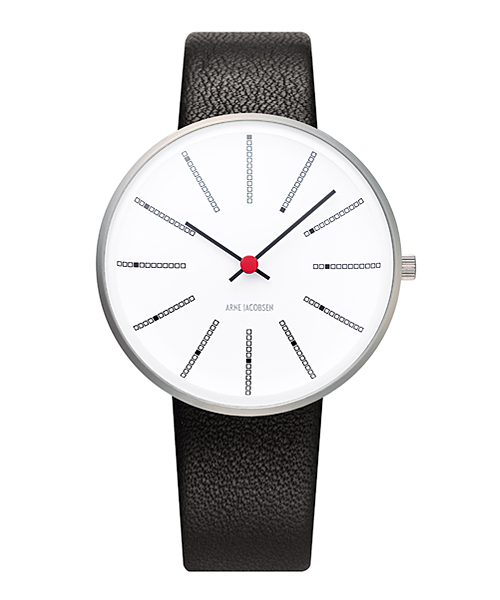 アルネ・ヤコブセン腕時計 ARNE JACOBSEN Bankers Watch Leather 34mm 53101-1601 ROSENDAHL