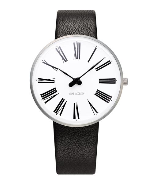 アルネ・ヤコブセン腕時計 ARNE JACOBSEN Roman Watch Leather 34mm 53301-1601 ROSENDAHL
