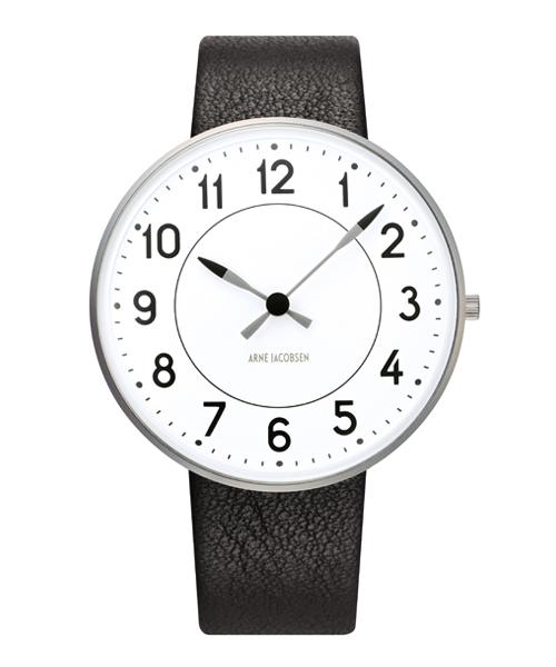 アルネ・ヤコブセン腕時計 ARNE JACOBSEN Station Watch Leather 40mm 53402-2001 ROSENDAHL