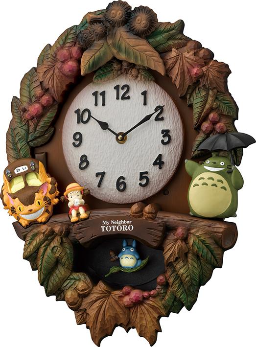 となりのトトロ のテーマ曲が流れます 振り子時計 掛け時計 鳩時計 ととろの振り子時計 トトロM429 カッコー時計 4MJ429-M06 名入れ ハト時計 公式通販 リズム時計 開業祝い 誕生日 訳ありセール 格安 出産お祝い お返し プレゼント 記念日 ギフト 結婚お祝い 新築お祝い 内祝い 記念 お洒落 開店お祝い