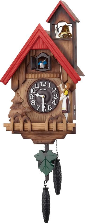 カッコー時計 卓出 鳩時計 振り子時計 掛け時計 カッコークロック はと時計 開業祝い 誕生日 記念日 記念 新築お祝い 開店お祝い ギフト お洒落 プレゼント 名入れ 4MJ732RH06 ハト時計 カッコーチロリアンR 結婚お祝い 国内正規総代理店アイテム リズム時計