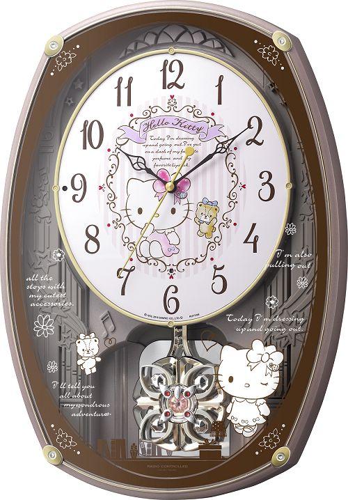 アミュージング振り子時計 からくり時計 ハローキティM540 4MN540MB13 リズム時計 名入れ【楽ギフ_のし】【楽ギフ_メッセ入力】【楽ギフ_名入れ】