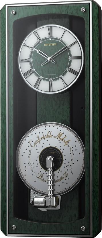 掛け時計 オルゴール ミュージックボックス プライムオルガニートMN 電波掛け時計 4MN532HG05 リズム時計 名入れ無料サービス【楽ギフ_のし】【楽ギフ_メッセ入力】【楽ギフ_名入れ】