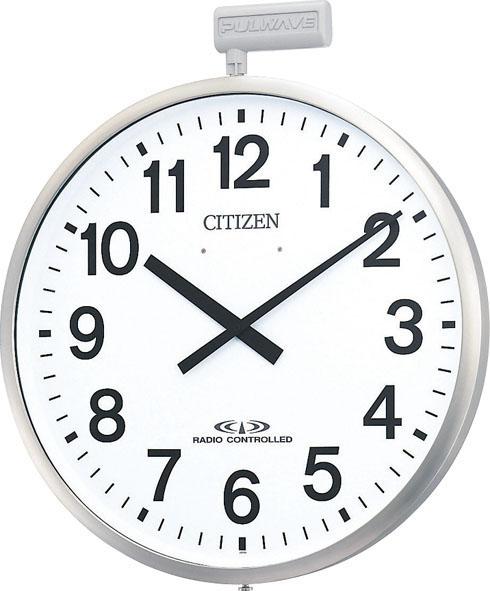 掛け時計 シチズン 大型 屋外 電波掛け時計 パルウェーブM611B 4MY611-B19 CITIZEN掛け時計 名入れ