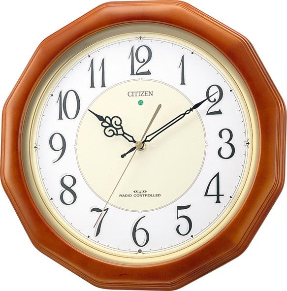 シチズン掛け時計 電波掛け時計 ピュアライト ネムリーナピュアM655 4MY655-006 シチズン時計 CITIZEN掛け時計
