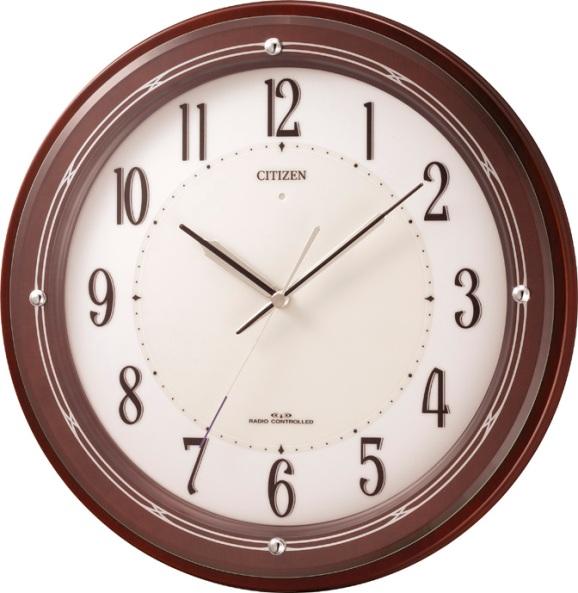 シチズン掛け時計 電波掛け時計4MY796-006 サイレントソーラーM796 シチズン時計 CITIZEN掛け時計 名入れ