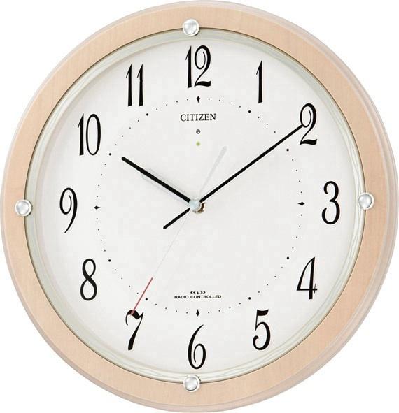 シチズン掛け時計 電波掛け時計4MY798-007 サイレントソーラーM798 シチズン時計 CITIZEN掛け時計 名入れ