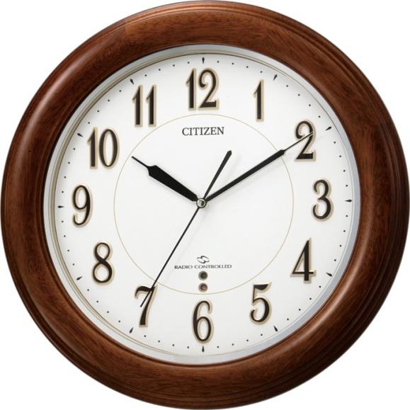 CITIZEN掛け時計 シチズン時計 電波掛け時計 4MY824-N06 スリーウェイブM824F  グリーン購入法適合