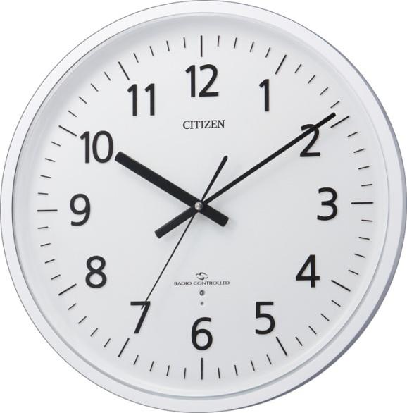 CITIZEN掛け時計 シチズン時計 オフィス時計 電波掛け時計 4MY827-003 スリーウェイブM824  グリーン購入法適合