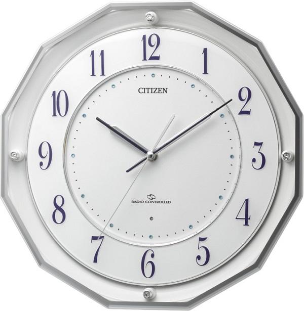 CITIZEN掛け時計 高性能スリーウェイブ! 電波掛け時計4MY835-003 スリーウェイブM835 シチズン時計 グリーン購入法適合
