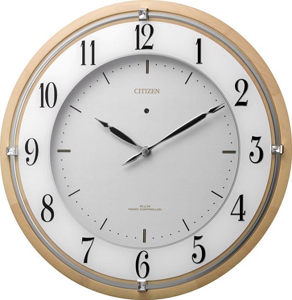 補助電池搭載のサイレントソーラークロック! 電波掛け時計4MY837-006 サイレントソーラーM837 シチズン時計