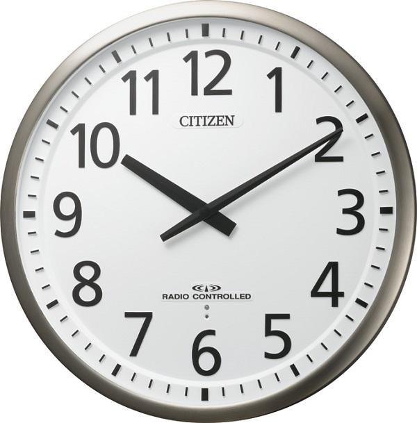 掛け時計 ユニバーサルデザインフォント 見やすい 電波掛け時計 オフィス スリーウェイブM839 4MY839-019 シチズン時計 名入れ 文字入れ