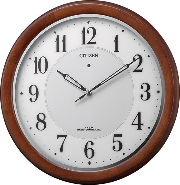 シチズン掛け時計 電波掛け時計 4MY852-006 ソーラー シチズン時計 CITIZEN掛け時計 名入れ