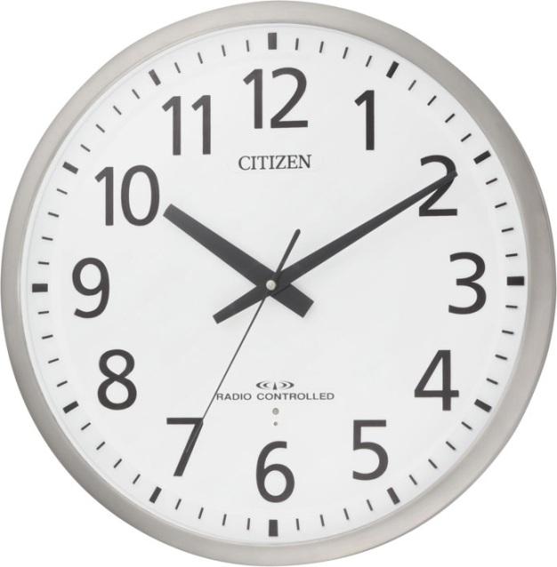 掛け時計 シチズン 大型 電波掛け時計 オフィス スペイシーM463 8MY463-019 CITIZEN掛け時計 名入れ 文字入れ