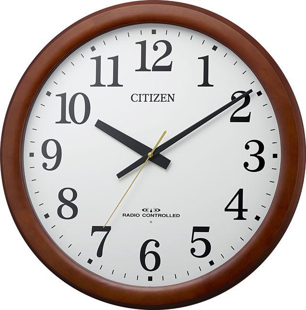 シチズン 掛け時計 大型 木枠 オフィス 電波掛け時計  8MY548-006 シチズン時計 壁掛け電波時計  CITIZEN 名入れ 文字入れ