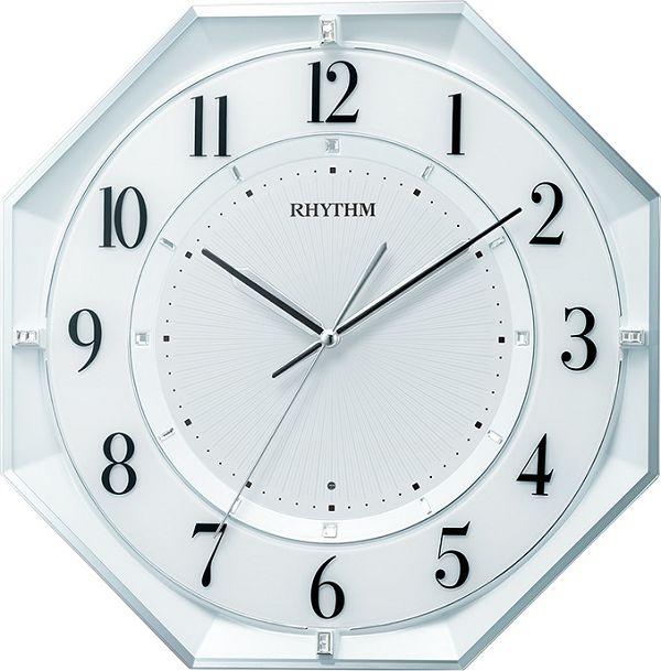 シンプルでスタイリッシュな掛け時計 フィットウェーブクール552  掛け時計 リズム時計 壁掛け時計 8MY552SR03 八角形 名入れ 文字入れ【楽ギフ_のし】【楽ギフ_メッセ入力】【楽ギフ_名入れ】
