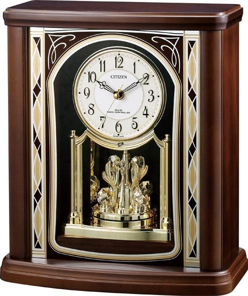 置き時計 パルロワイエR698SR 4RY698SR06 リズム時計 シチズン時計  【楽ギフ_のし】【楽ギフ_メッセ入力】【楽ギフ_名入れ】