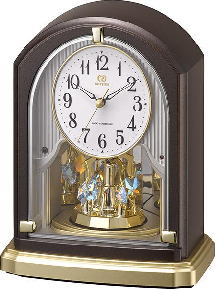 回転飾り 置き時計 ハイグレード RHG-S75 リズム時計 8RY414HG06 【楽ギフ_のし】【楽ギフ_メッセ入力】【楽ギフ_名入れ】