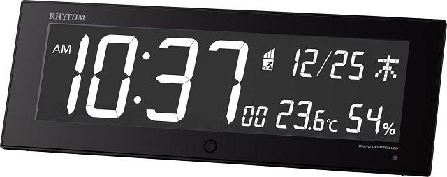 カラ―パフォーマンス電波置き掛け兼用時計 イロリア ジー IRORIA G 8RZ184SR02 ブラック リズム時計 【楽ギフ_のし】【楽ギフ_メッセ入力】【楽ギフ_名入れ】