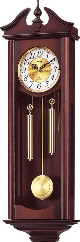 報時付きリズム振り子時計 キャロラインR 4MJ742RH06 リズム時計 CITIZEN振り子時計 名入れ 文字入れ