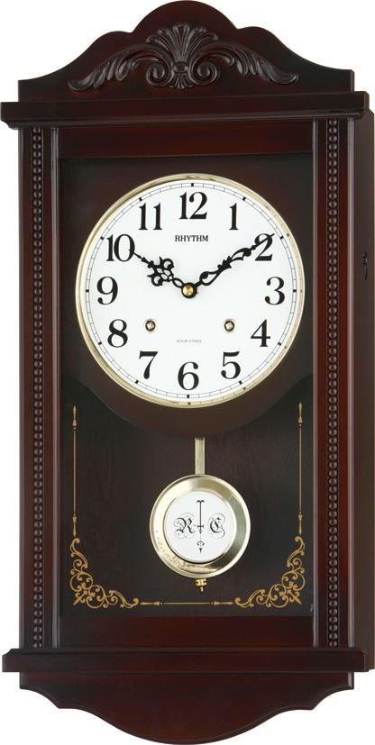 報時時計 リズム振り子時計 アタシュマンR 4MJA01RH06 (シチズン時計) リズム時計 (CITIZEN)振り子時計 名入れ