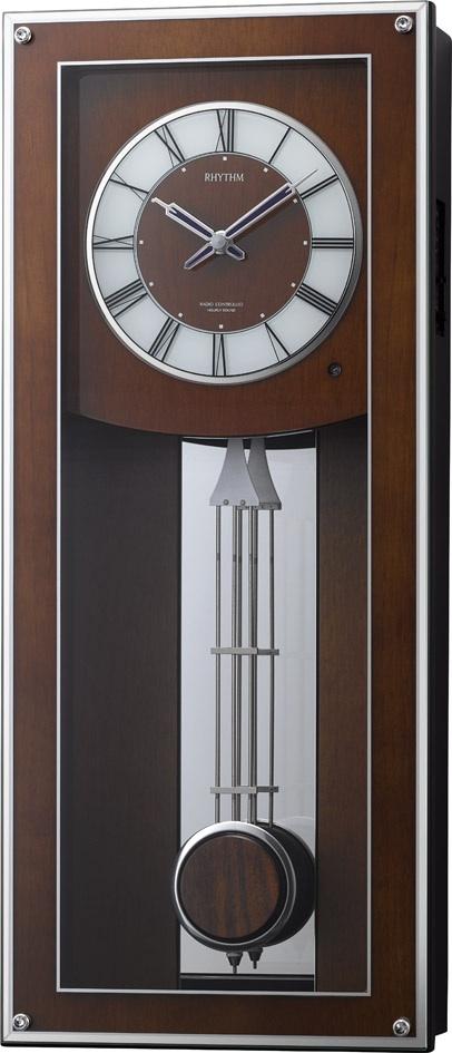 振り子時計 報時 メロディ 掛け時計 プライムフィールド 4MN522RH06 リズム時計