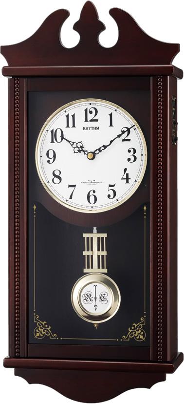 報時リズム振り子時計 ペデルセンR 4MNA03RH06 リズム時計 電波振り子時計 (CITIZEN振り子時計)