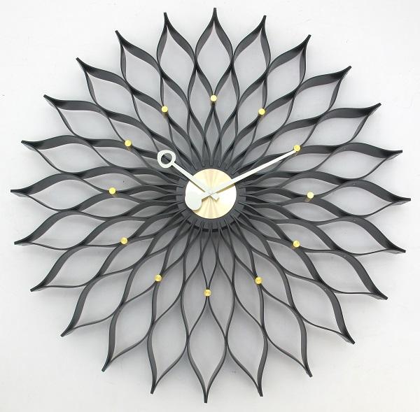 ジョージネルソン Sunflower  掛け時計 サンフラワークロック ブラック GN304BK GeorgeNelson 壁掛け時計