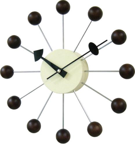 ジョージネルソン 掛け時計 BALLクロック ブラウン GN397WB GeorgeNelson