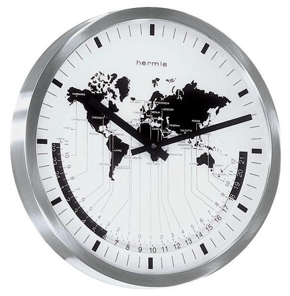 ヘルムレ掛け時計 AIRPORT 30504-002100【送料無料】ヘルムレワールドタイム HERMLE掛け時計
