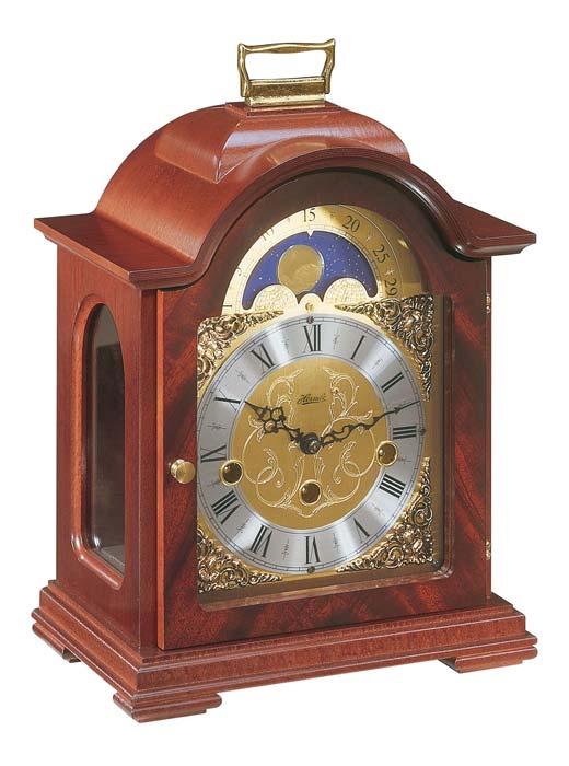 ヘルムレHERMLE置き時計 Tischuhr 22864-070340 ムーンフェイズ ヘルムレ機械式置き時計 マホガニー