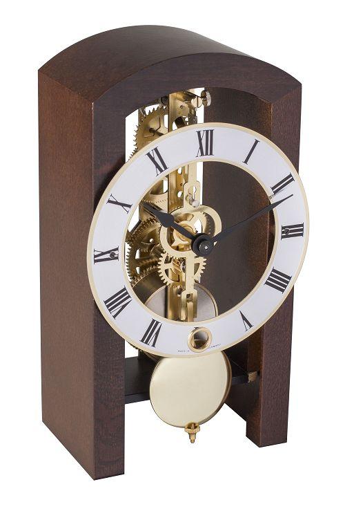 モダンなムーブメントが見えるスケルトンデザイン!ヘルムレ(HERMLE)置き時計  機械式テーブルクロック 23015-030721