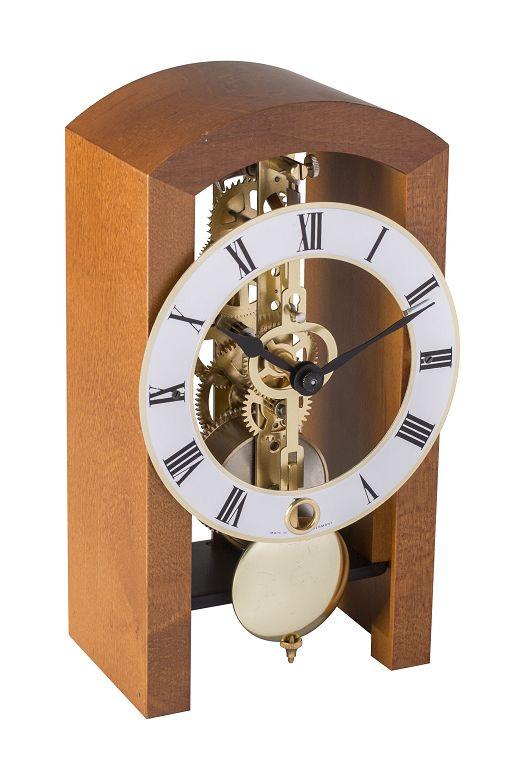 モダンなムーブメントが見えるスケルトンデザイン!ヘルムレ(HERMLE)置き時計  機械式テーブルクロック 23015-160721