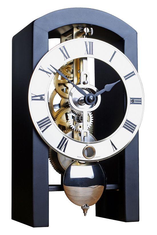 モダンなムーブメントが見えるスケルトンデザイン!ヘルムレ(HERMLE)置き時計  機械式テーブルクロック 23015-740721