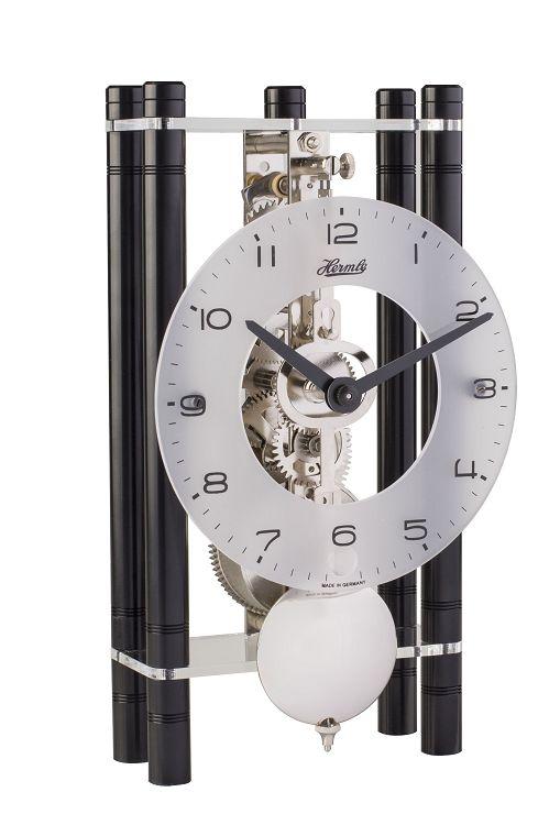モダンなムーブメントが見えるスケルトンデザイン!ヘルムレ(HERMLE)置き時計  機械式テーブルクロック 23021-740721