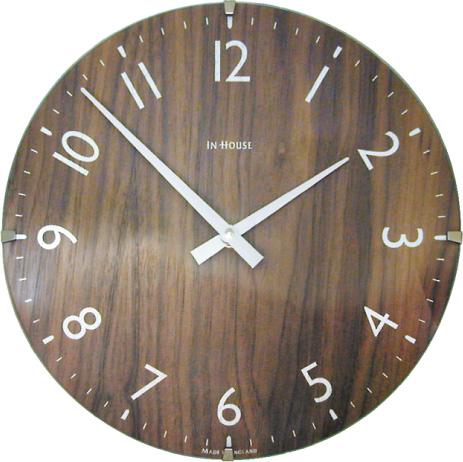 【INHOUSE】インハウス掛け時計 ドームクロック NW30WB ウォルナットΦ40cm INHOUSE掛け時計【送料無料】 【楽ギフ_のし】【楽ギフ_メッセ入力】【楽ギフ_名入れ】