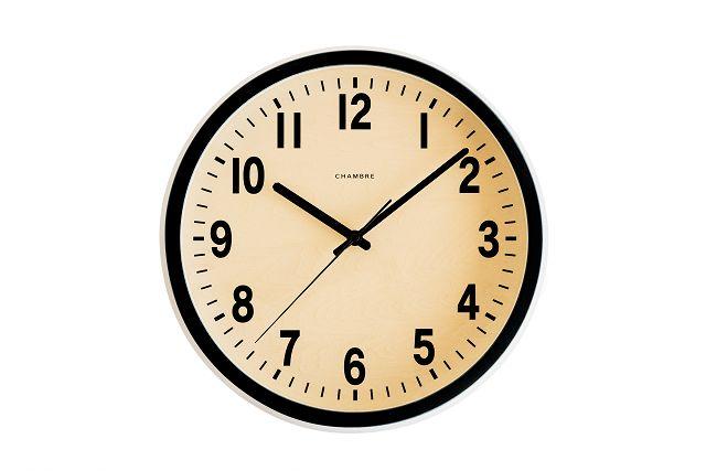 シャンブル掛け時計 電波時計 PUBRIC掛け時計  CHAMBRE掛け時計  CH-027BK ブラック