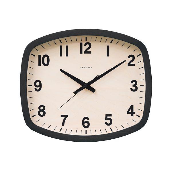 シャンブル掛け時計 R-SQUARE CLOCK 電波時計 CHAMBRE掛け時計  CH-028BK  ブラック