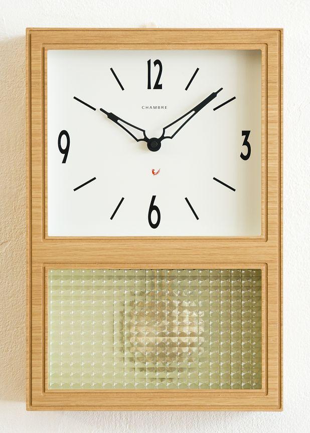 CHAMBRE掛け時計 OAK シャンブル掛け時計 GLASS振り子時計  CH021OA